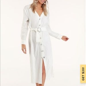 Moon river belted dress XS